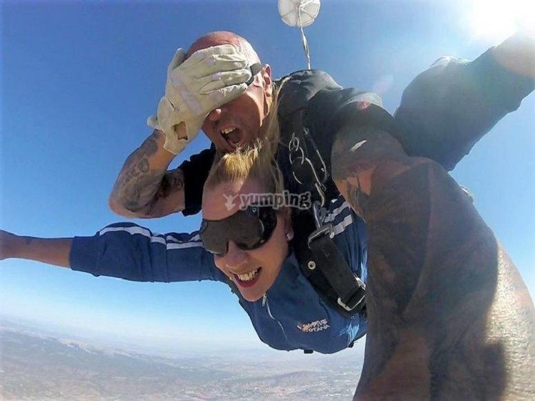 Parachute jump from Totana