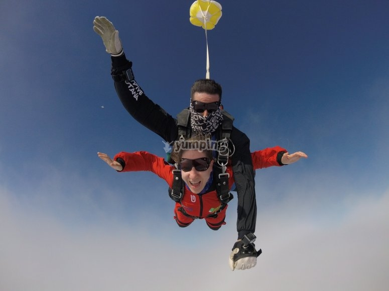 Tandem jump for Mother's Day Totana