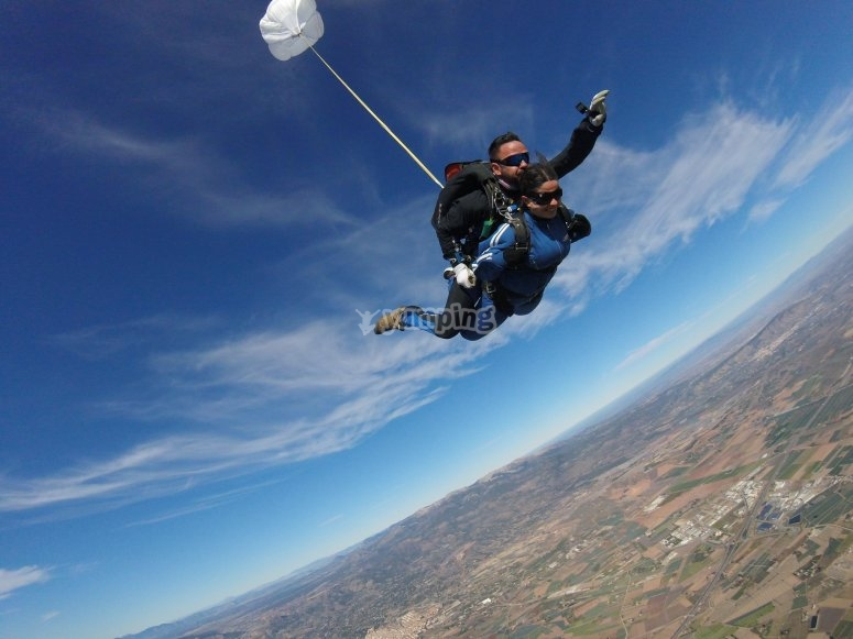 Parachute jump for Mother's Day