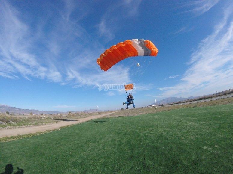 Aterrizando tras el salto