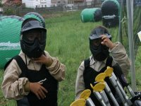 Equipment ready for the paintball game