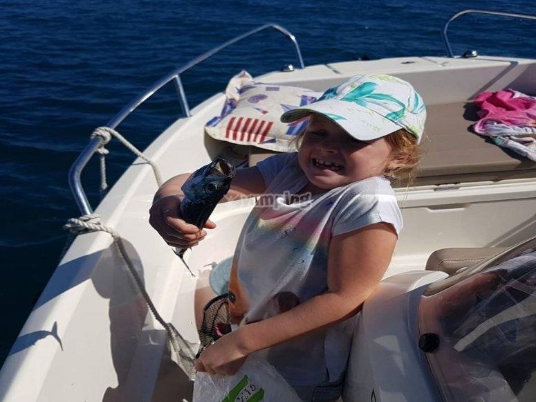 Pescando desde la embarcación