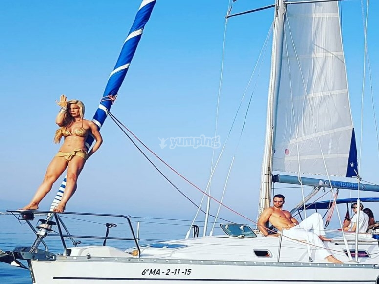 Despedida de soltero a bordo de un velero
