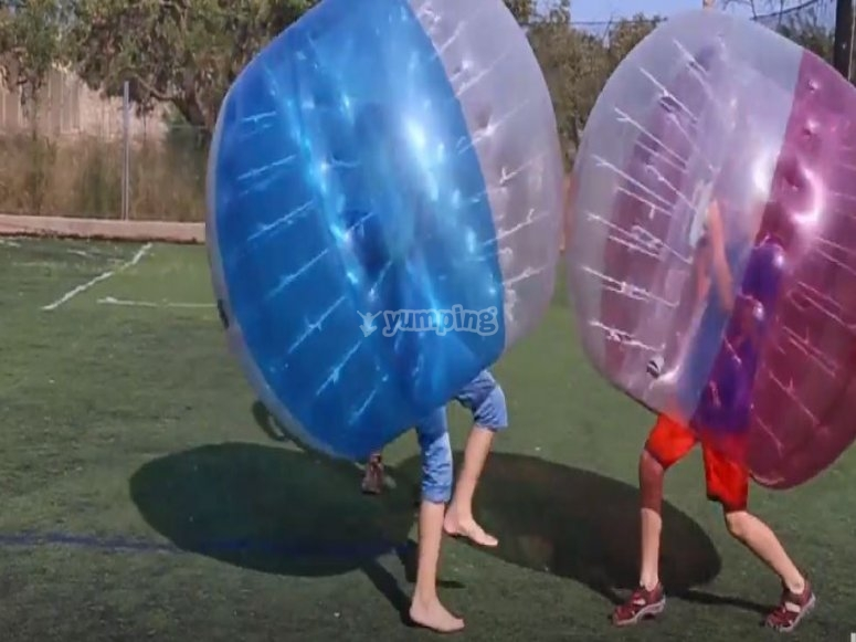 Burbujas empujándose