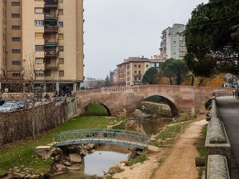 Old bridge of the Aragonese city