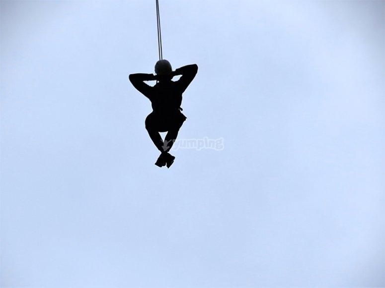 Suspendido en el aire