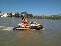 Ruta moto de agua por el río Guadiana 30 minutos