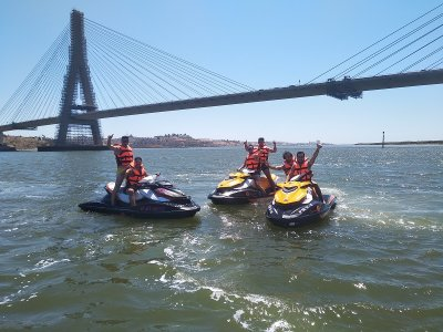 前往Foz Do Odeleite的水上摩托艇路线1h15m