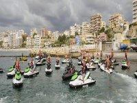 Motos de expedicion en el mar