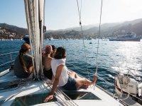 Navegando por la Costa de Barcelona