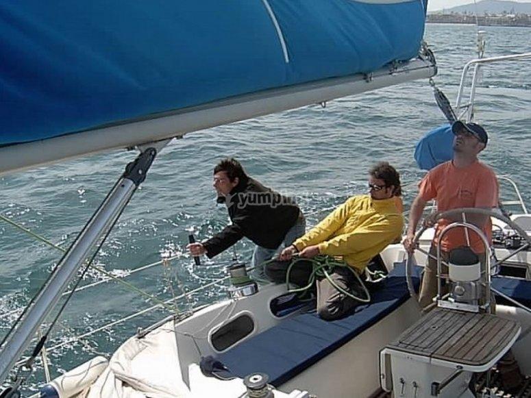Durante la regata