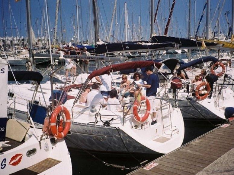 Las embarcaciones en el puerto
