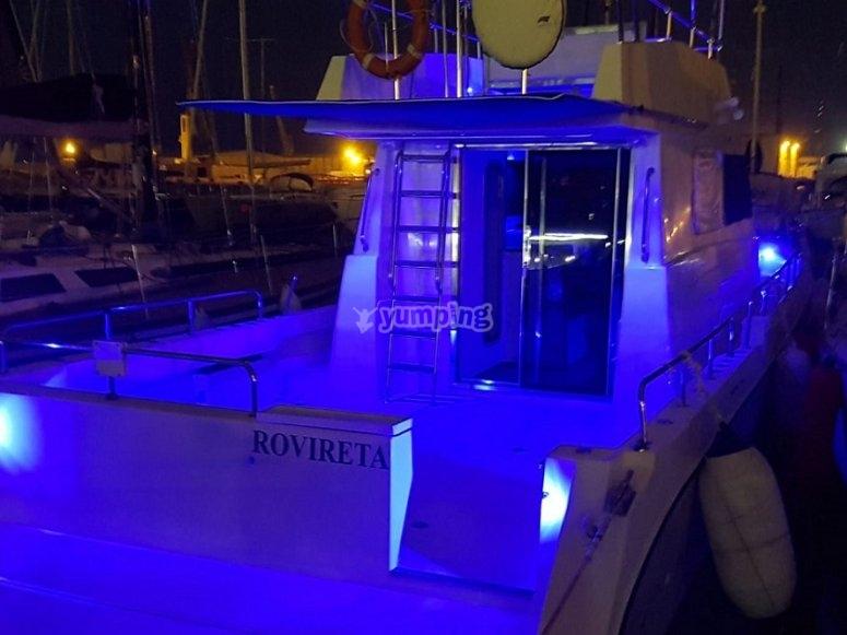 船上的蓝灯