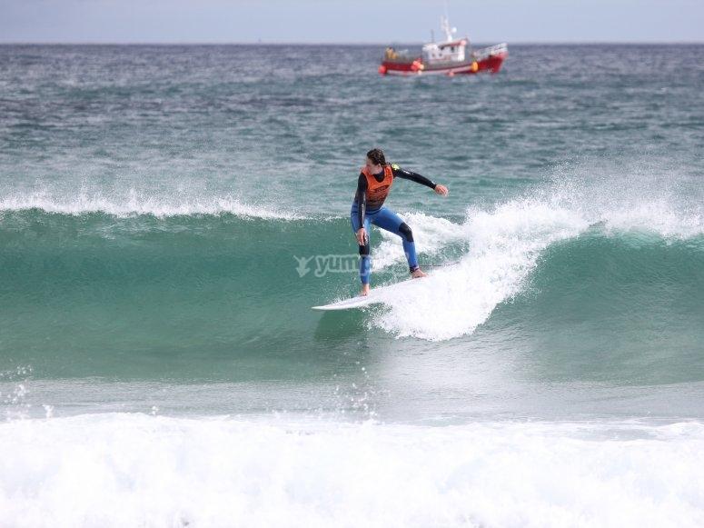 Imparare a navigare sulla spiaggia di Barreiros