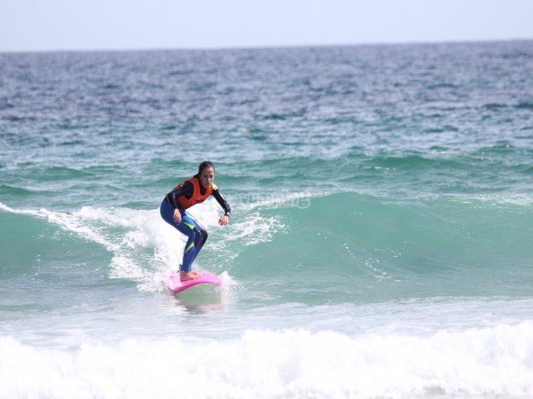 Studente di surf a Barreiros