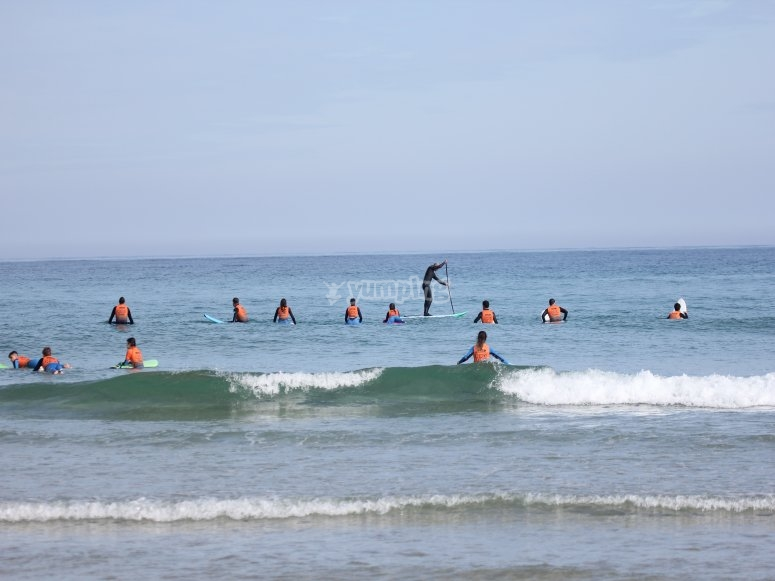 Corso di surf a Foz