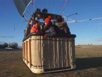 A bordo de la cesta