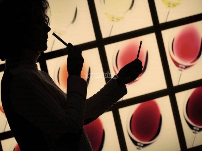 En el museo del vino