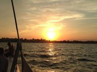 Sunsets on the high seas