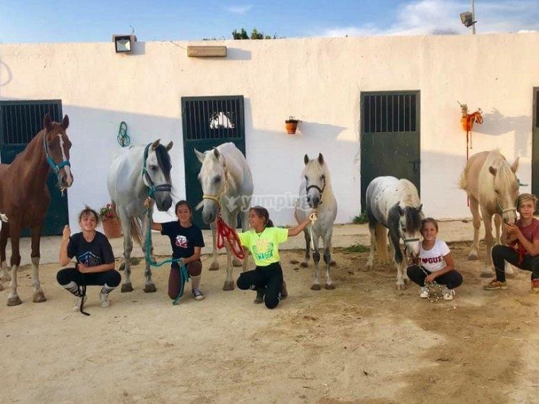 Prendersi cura dei loro cavalli