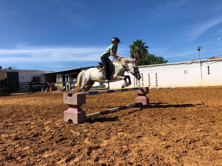 Migliorando la sua tecnica a cavallo