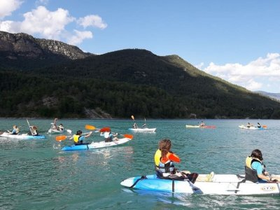 Guided double kayak route La Llosa del Cavall 2h