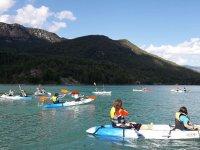 Guided double kayak route La Llosa del Cavall 2h