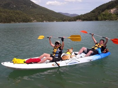 Double kayak rental in La Llosa del Cavall 1h