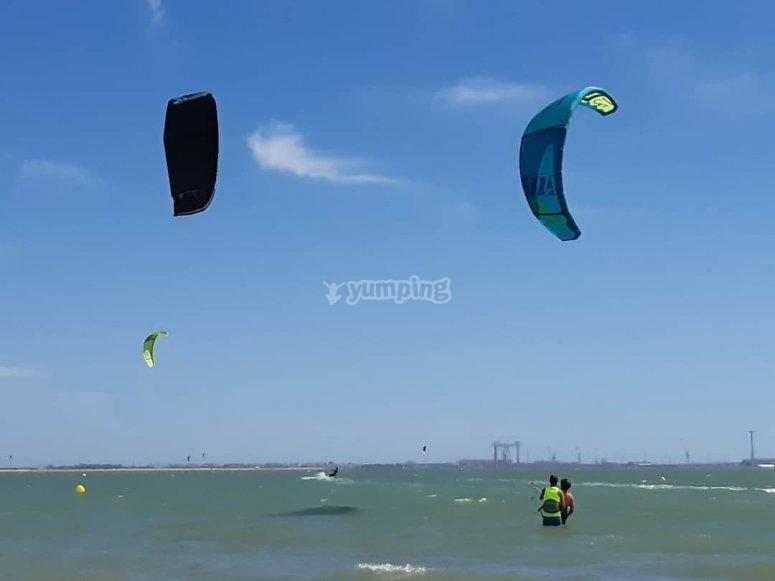 Kitesurfer en El Puerto de Sta María