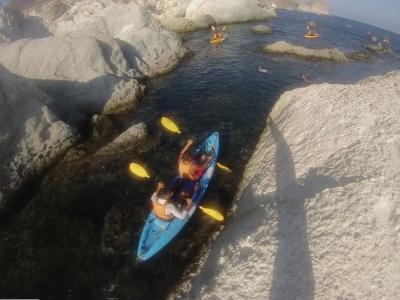 Tour kayak a Cala Higuera niños y snorkel 2h30min