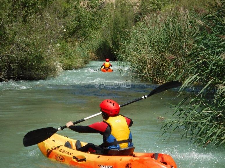 Sobre el kayak