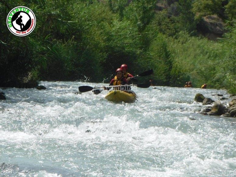 Durante el tour en kayak