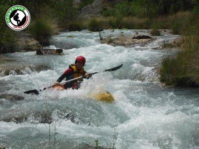 Ruta guiada en kayak por el río Guadalope 3 horas