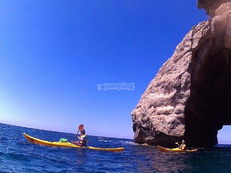 Durante el trayecto en kayak