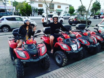 Quad and two helmet rental Puerto de Alcudia 1 day