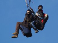 Flying in blue sky day