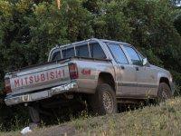 蓝色标识探险的4x4 SUV在Garajonay公园Garajonay Garajonay