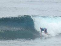 Disfrutando de un día de surf