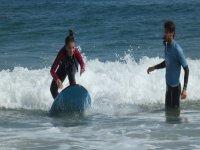 Día de surf en Llanes