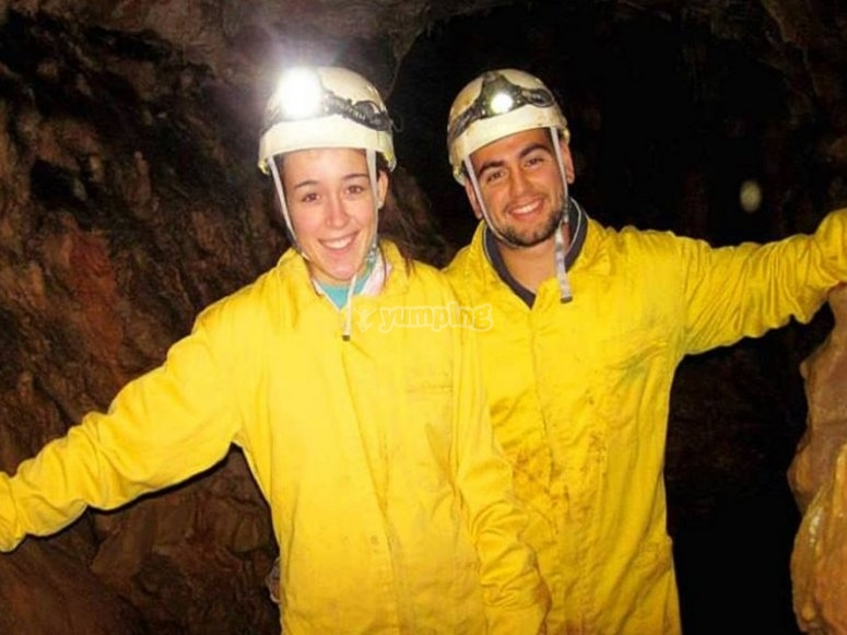 During the caving activity