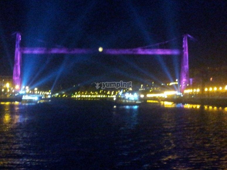 Bizkaia大桥照明