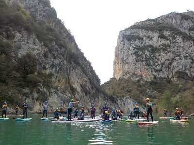 Paddle surf baptism in Entremón canyon 4h