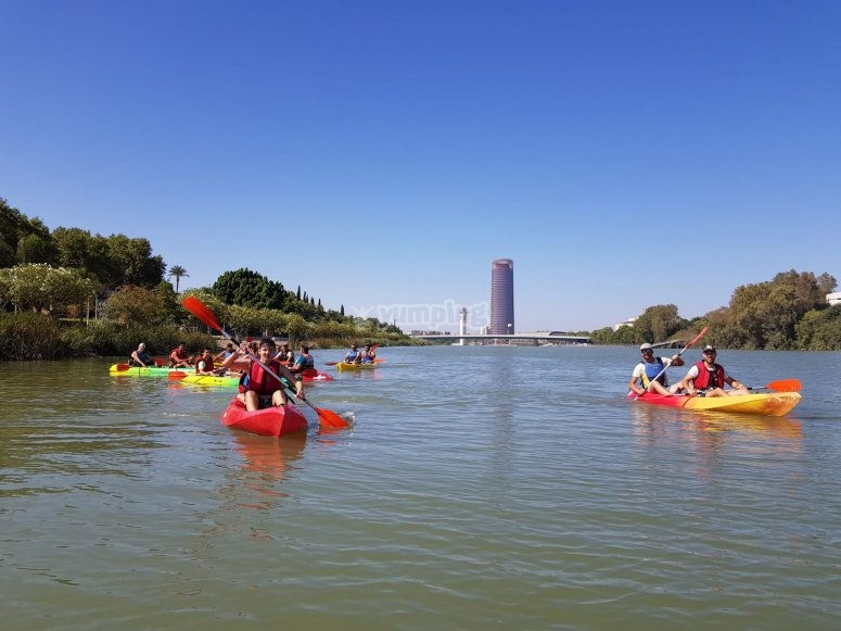 Kayak route with kids