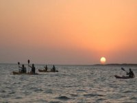 enjoying a sunset sailing