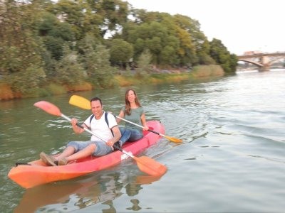 Double-seat kayak rental in the Guadalquivir 2 h
