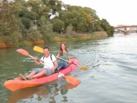 Couple aboard the kayak