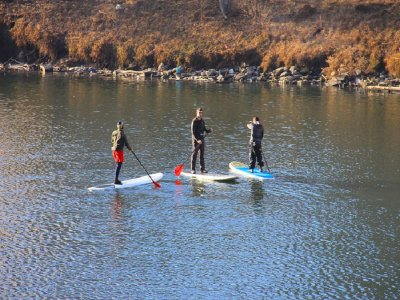Paddle surf route in Valdecañas reservoir 1h 30m
