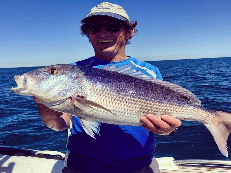 Disfrutando de cada captura pescada