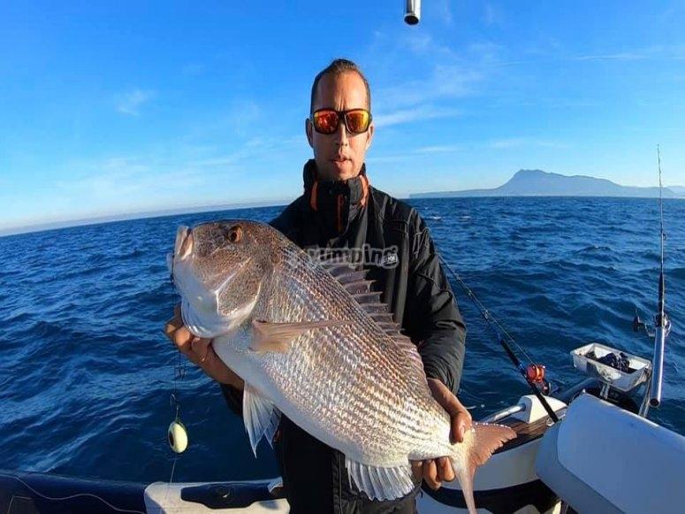 Deep sea fishing in Denia