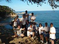 小组在其会议上--999-在海滩上